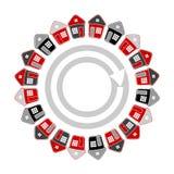 Дома в форме круга имущество принципиальной схемы реальное Стоковые Изображения RF