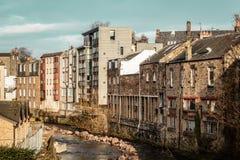Дома в Эдинбурге, Шотландии, Великобритании стоковое фото rf
