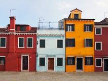 Дома в Burano Стоковые Изображения RF