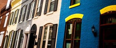 Дома в Georgetown Стоковое фото RF