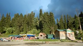 Дома в Gulmarg-Kashmir-4 Стоковые Фото