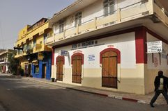 Дома в St Louis Сенегале стоковые изображения rf