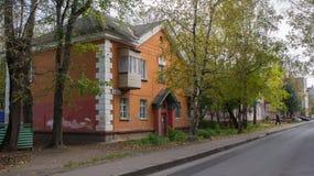 Дома в Tver, России Стоковое Изображение