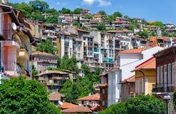 Дома в Veliko Tarnovo стоковое изображение rf