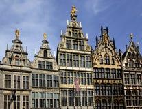 Дома гильдии на Grote Markt, Antwerpen, Фландрии Стоковое Изображение