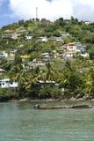 дома горного склона Гренады Стоковые Изображения RF