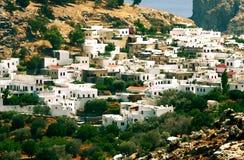дома Греции Стоковая Фотография