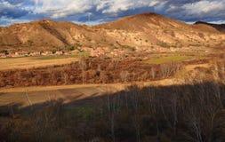 Дома жилища злаковика в злаковике Внутренней Монголии Стоковые Изображения
