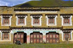 Дома жилища местный-стиля Тибета стоковое фото rf
