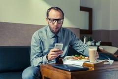 Дома завтрака еды бизнесмена/гостиница Крытое фото Стоковое фото RF