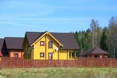 Дома за загородкой Стоковое Изображение RF