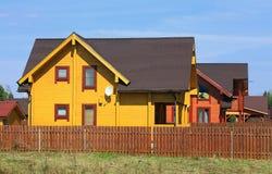Дома за загородкой Стоковое Изображение