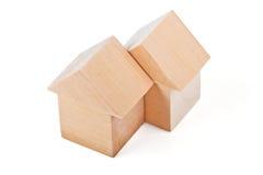 Дома игрушки сделанные из деревянных блоков Стоковые Изображения RF