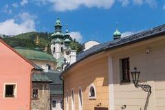 Дома и башни Banska Stiavnica, Словакии Стоковые Изображения