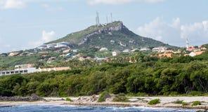 Дома и индустрия на холме Curacao Стоковая Фотография RF