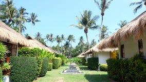 Дома и пальмы Стоковое Изображение
