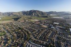 Дома и фермы воздушное Camarillo Калифорния стоковое изображение rf