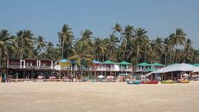 Дома и хаты на пляже Palolem сток-видео