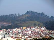 Дома и холмы Стоковые Изображения