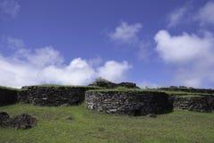 Дома камня Orongo Стоковое Фото