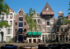 Дома канала Амстердам Стоковые Фотографии RF
