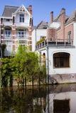Дома канала в Гааге Стоковые Изображения