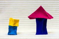 Дома кирпича игрушки Стоковые Фотографии RF