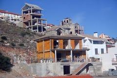 дома конструкции вниз стоковое изображение