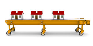 дома ленточного транспортера двигая 3 Стоковые Изображения