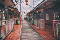 Дома молы клана жевания, городок ходулей наследия Джордж, Penang, Малайзия Стоковое Изображение RF