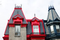 Дома Монреаль стоковые изображения