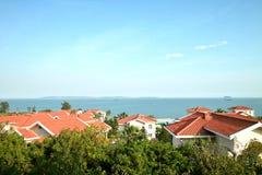 дома над морем Стоковое Фото