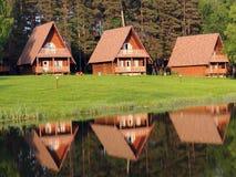 Дома на береге Стоковое Изображение