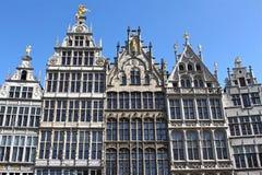 Дома на большом квадрате рынка Antwerp Стоковые Изображения RF