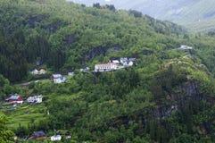 Дома на горах Стоковое Изображение
