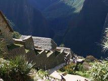 Дома на горе в Machu Piccu, Перу Стоковые Фотографии RF