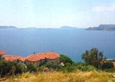 Дома на заливе Kas стоковое изображение rf