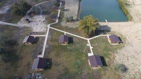 Дома на основании домов отдыха для туристов и охотников Стоковое фото RF