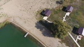 Дома на основании домов отдыха для туристов и охотников Стоковые Фото