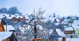 Дома на сезоне зимы Стоковая Фотография