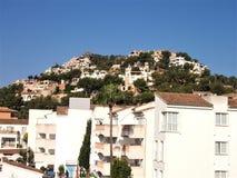 Дома на холме в порте Andratx, Мальорке Стоковое Изображение