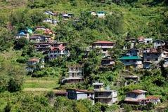 Дома на холме в Banaue, Филиппинах Стоковая Фотография RF