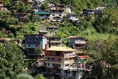 Дома на холме в Banaue, Филиппинах Стоковые Изображения RF