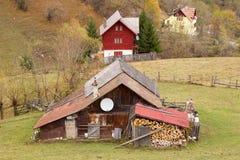Дома на холме Стоковая Фотография