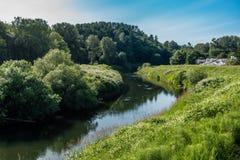 Дома на Green River 3 Стоковые Фото