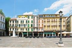 Дома на Signori dei аркады в Падуе, Италии стоковая фотография rf