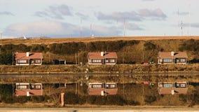 Дома озера Стоковое фото RF