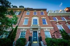 Дома около круга Du Pont, в Вашингтоне, DC Стоковые Фотографии RF