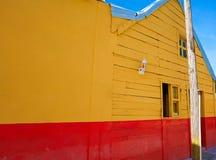 Дома острова Holbox красочные карибские мексиканськие стоковая фотография