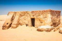 Дома от планеты Tatouine - комплекта фильма Звездных войн, Nefta Туниса Стоковые Изображения RF
